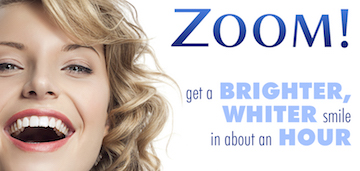 zoom in office teeth whitening